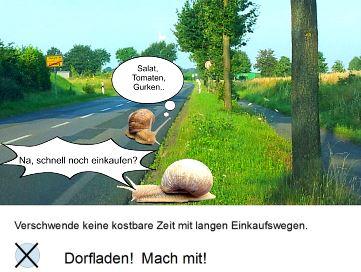 Dorfladen-Werbung